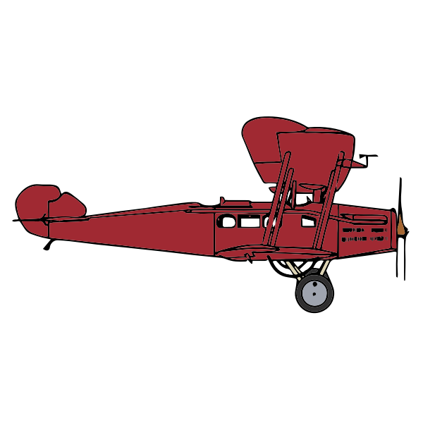 Biplane red color