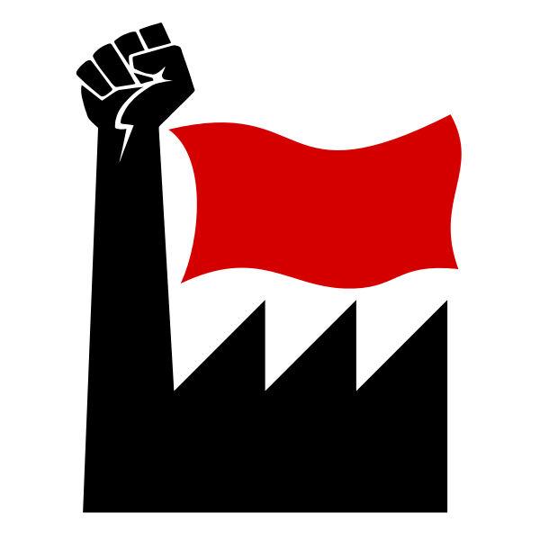 Plant with flag and fist