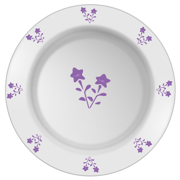 Vector illustration of flower pattern plate