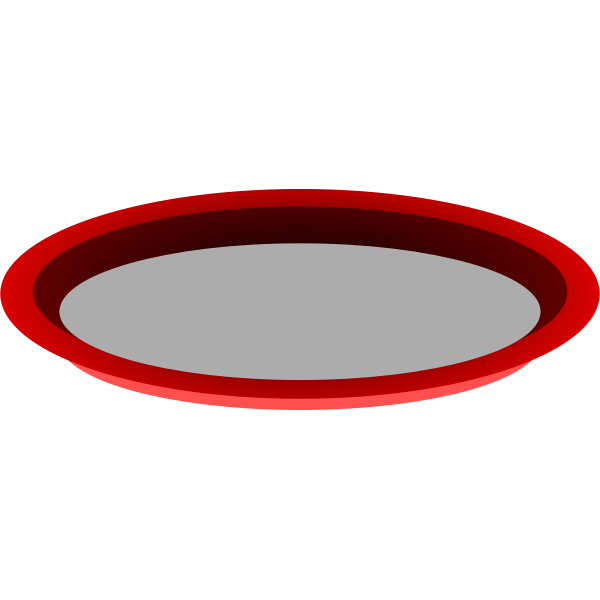 Vector graphics of red metal tray