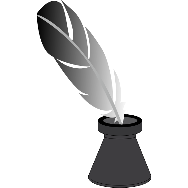 Quill and inkwell image