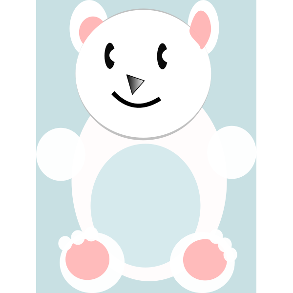 Vector image of cartoon polar bear