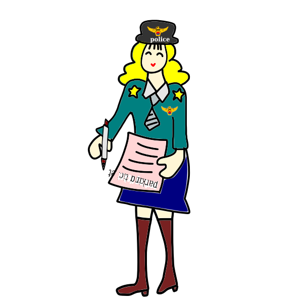 Vector illustration police officer