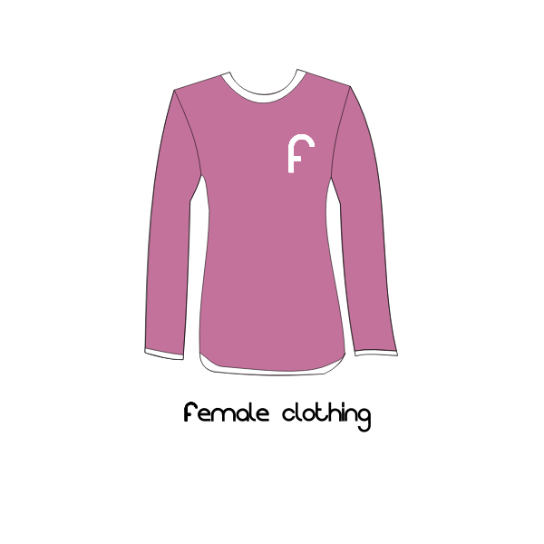 Female T-shirt vector clip art