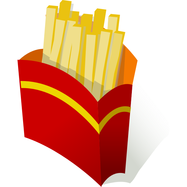 French fries in wrapper vector graphics