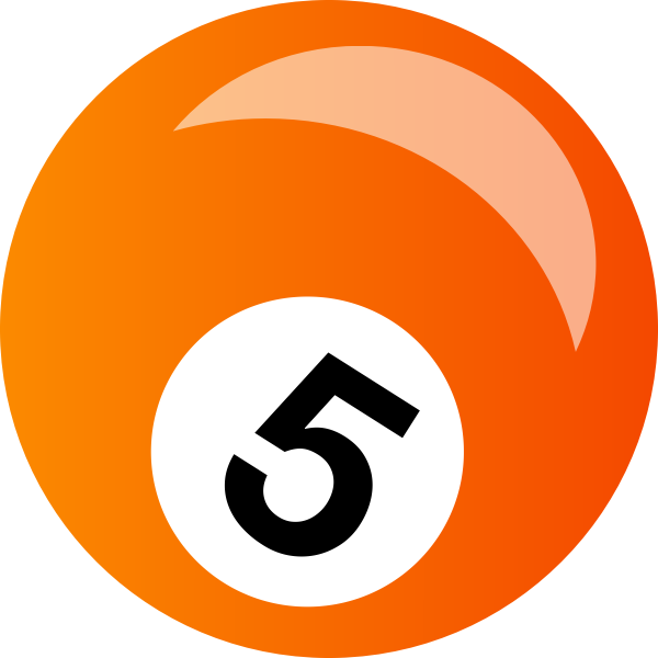 Orange snooker ball