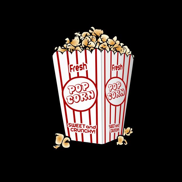 Popcorn bag vector clip art