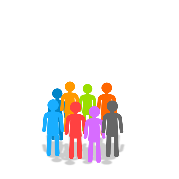 Vector image of population icon