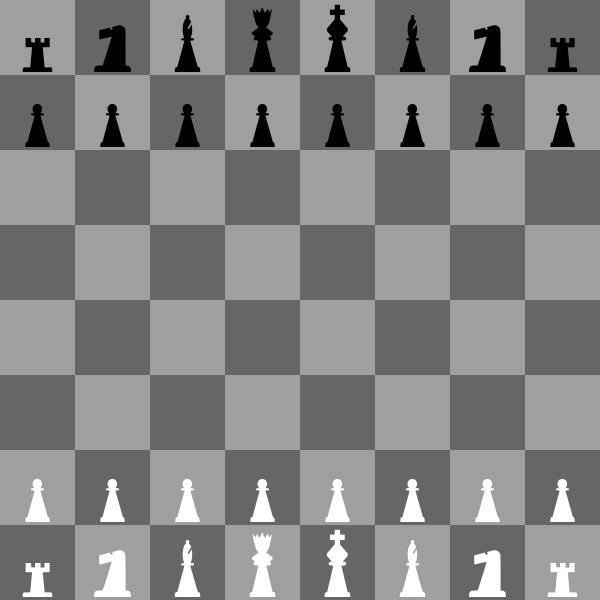 2D Chess set - Chessboard 2