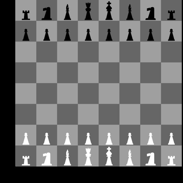 2D Chess set - Chessboard
