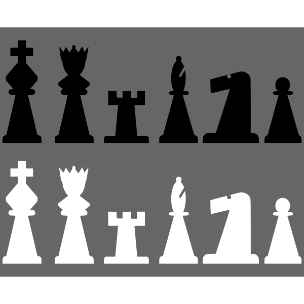 2D Chess set - Pieces 1