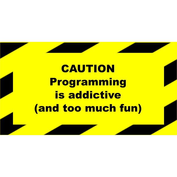 Programming addictive sign vector image