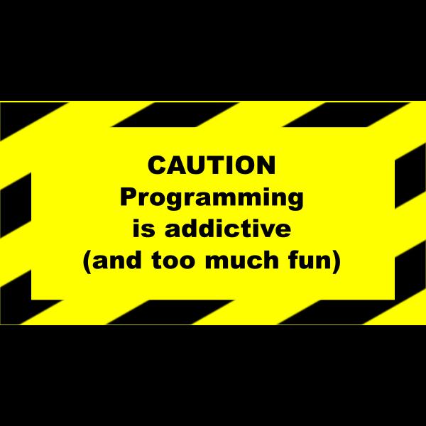 Programming addictive sign vector image