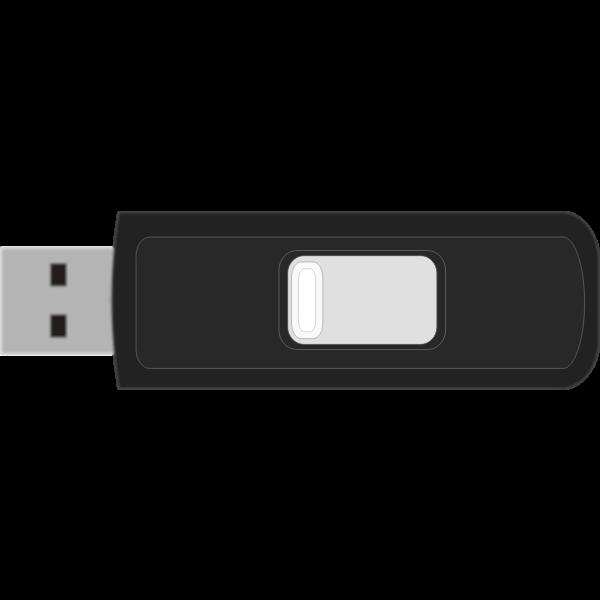 Sandisk Cruzer Micro USB memory stick vector clip art