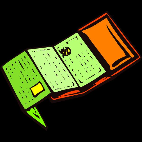 Wallet vector clip art image