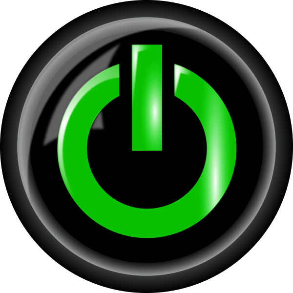 Power button green and black