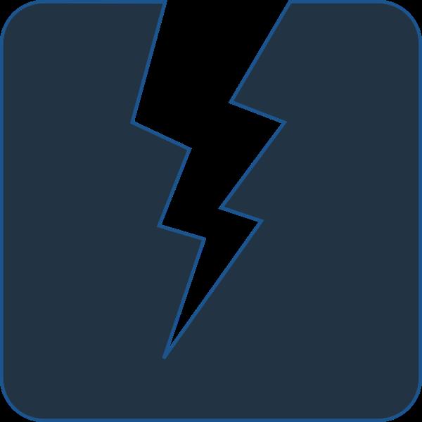 vector image of lightning bolt on dark background  free svg