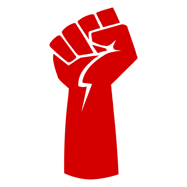 Clenched fist symbol of resistance