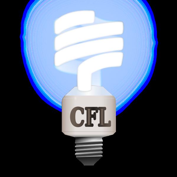 Compact fluorescent lamp vector illustration