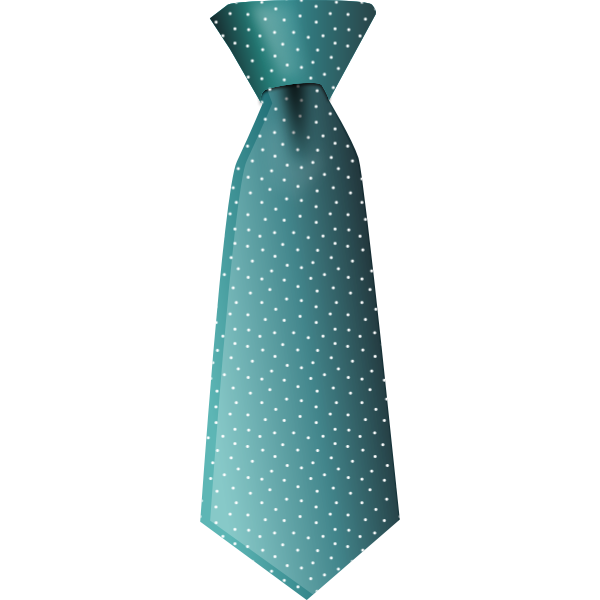Vector drawing of spotty green tie
