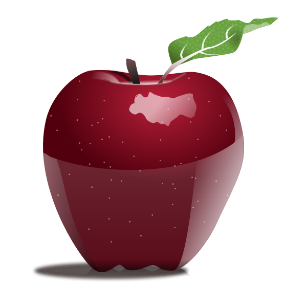 Photorealistic vector image of apple