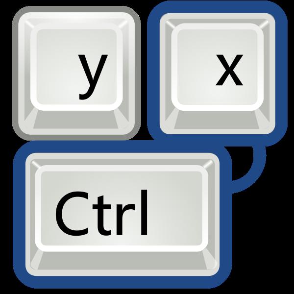 Vector illustration of tango keyboard shortcut keys