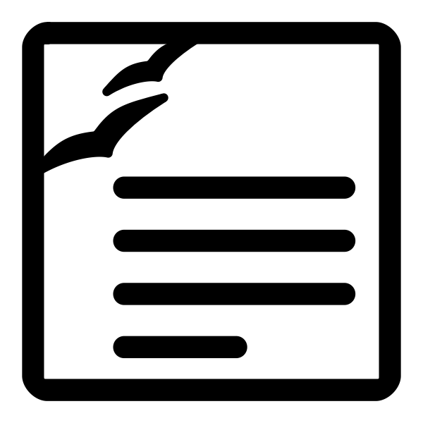Vector illustration of monochrome text processing file type sign