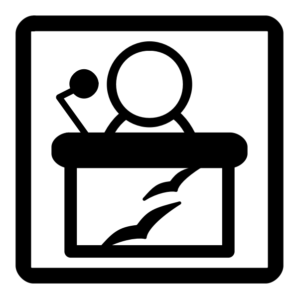 Vector image of monochrome PPT file type sign
