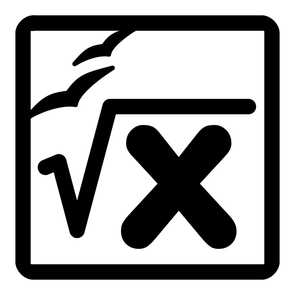 Vector clip art of monochrome calculation file type sign