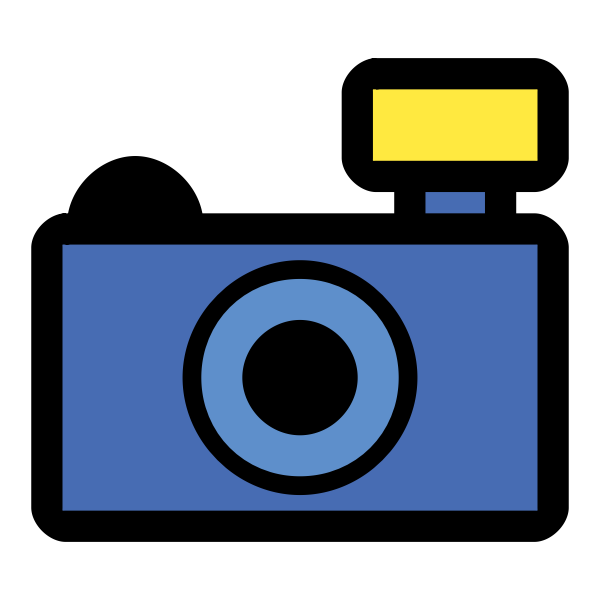 Amateur photography camera icon  vector clip art