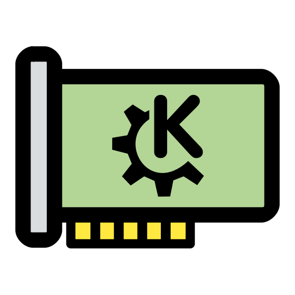 Vector drawing of primary hardware KDE icon