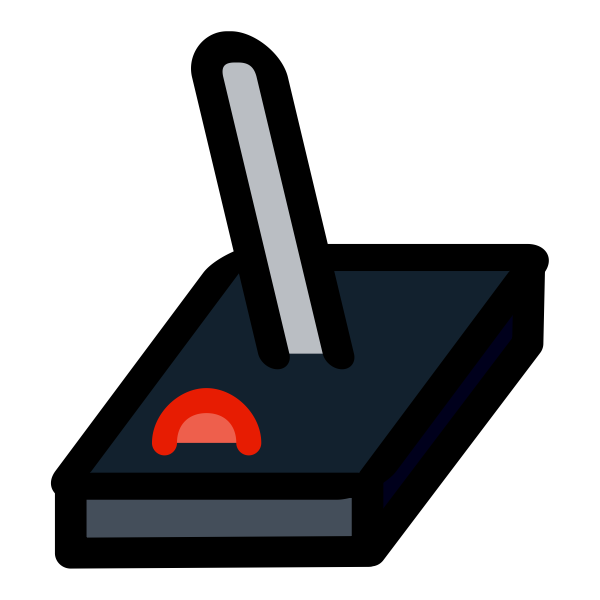 Primary joystick icon vector clip art
