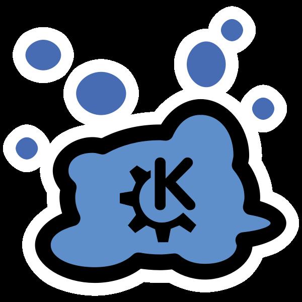 Blue KDE splat