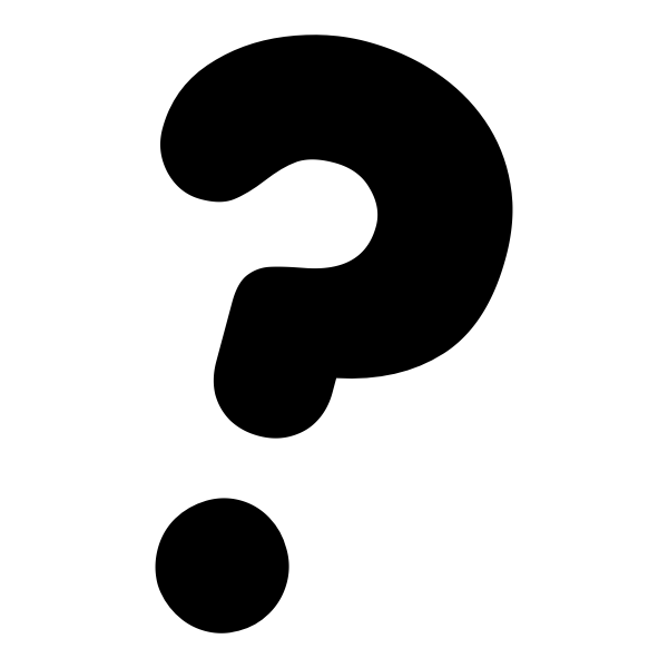Vector image of primary question mark black and white icon