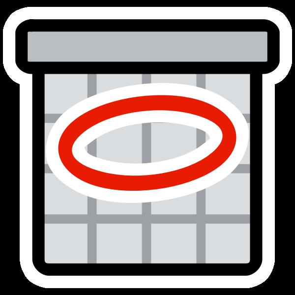 Vector clip art of primary schedule icon