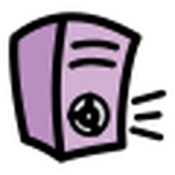 Purple loudspeaker icon