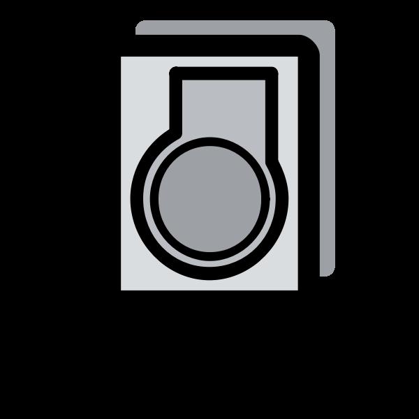 Primary server icon vector clip art