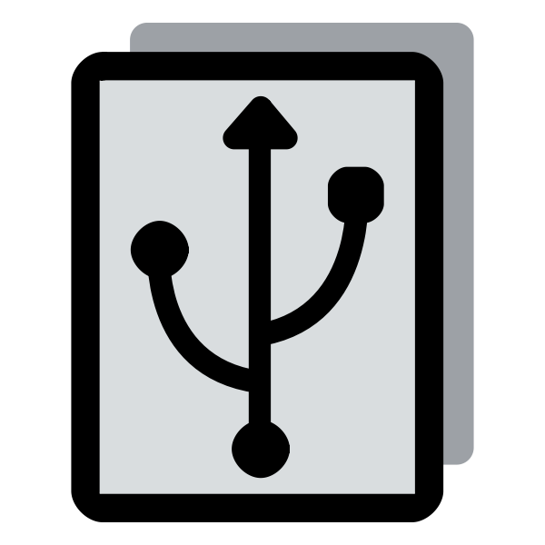 USB plug connection label vector image