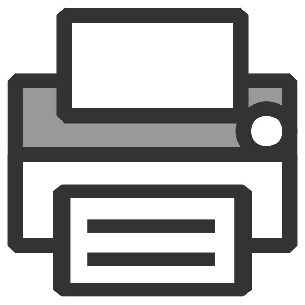 Vector illustration of simple office printer icon