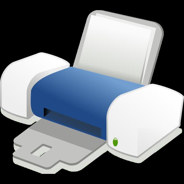 Blue Inkjet printer vector drawing