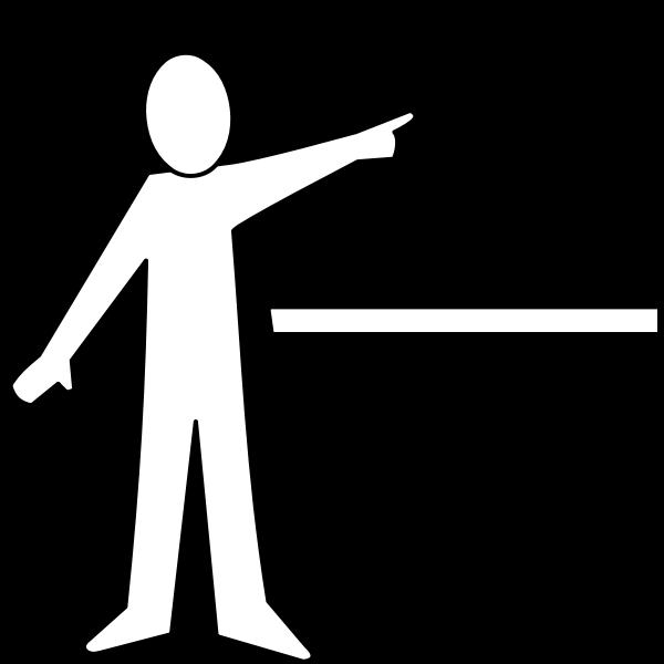 Presentation line art pictogram vector image