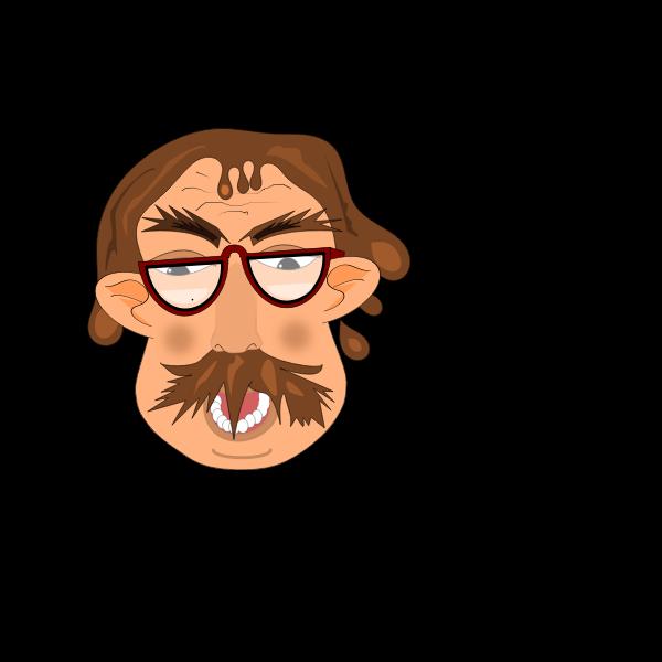 Professor in cartoon style