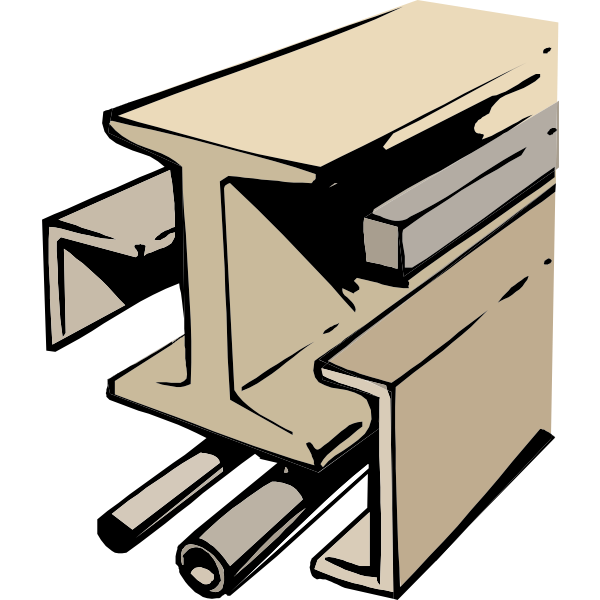 Construction profile vector image
