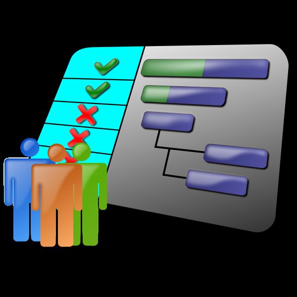 Project schedule vector graphics