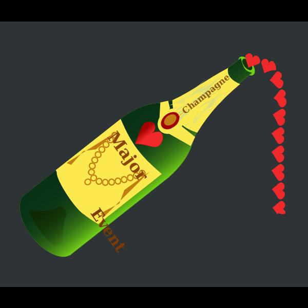 Champagne bottle vector illustration