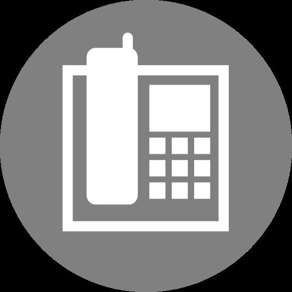Phone Icon grey color