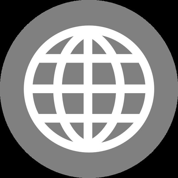 Internet globe icon vector image