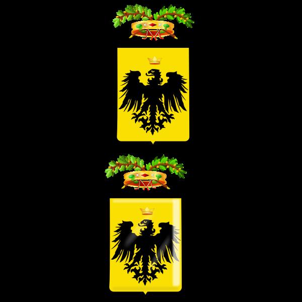 Provincia di Pisa coat of arms vector image