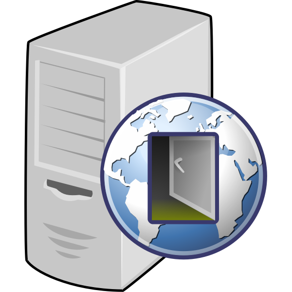 Proxy server icon vector drawing