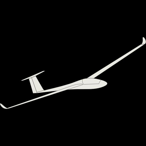 Glider airplane vector